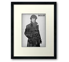 BBC Sherlock Poster  Framed Print