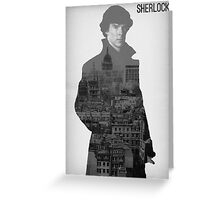 BBC Sherlock Poster  Greeting Card