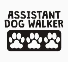 Assistant Dog Walker Kids Tee