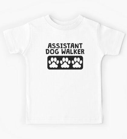 Assistant Dog Walker Kids Tee