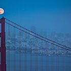 Full Moon over the Golden Gate Bridge July 2012 by Toby Harriman