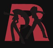 Team Rocket Line art Kids Tee