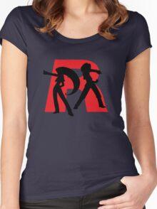 Team Rocket Line art Women's Fitted Scoop T-Shirt