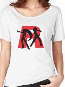 Team Rocket Line art Women's Relaxed Fit T-Shirt