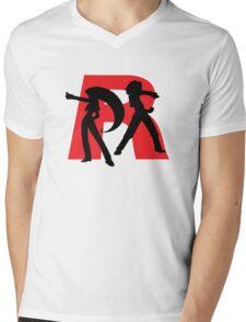 Team Rocket Line art Mens V-Neck T-Shirt