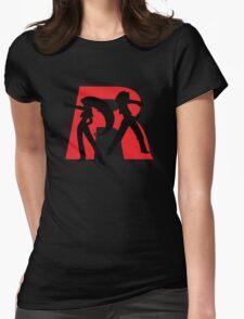 Team Rocket Line art Womens Fitted T-Shirt