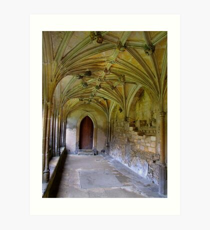 Gothic Cloisters - Lacock abbey- Harry Potter location.. Art Print