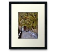 Gothic Cloisters - Lacock abbey- Harry Potter location.. Framed Print