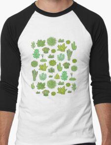 Succulents Men's Baseball ¾ T-Shirt