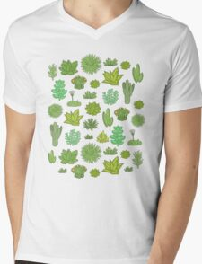 Succulents Mens V-Neck T-Shirt