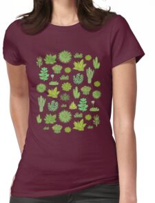 Succulents Womens Fitted T-Shirt