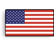 American Flag, Stars & Stripes, Pure & Simple, America, USA, on BLACK Canvas Print