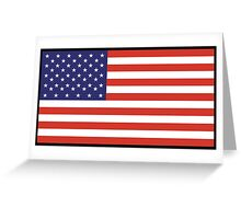 American Flag, Stars & Stripes, Pure & Simple, America, USA, on BLACK Greeting Card