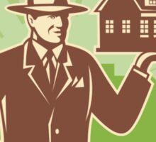 Realtor Real Estate Salesman House Retro Sticker
