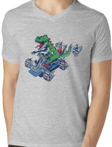 Clever Shell Mens V-Neck T-Shirt