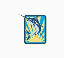 Blue Marlin Fish Jumping Retro Rectangle Unisex T-Shirt