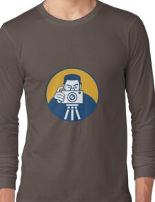 Photographer With Camera Retro Long Sleeve T-Shirt