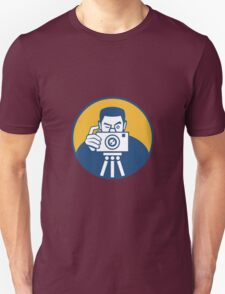 Photographer With Camera Retro T-Shirt
