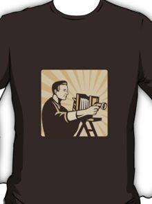 Photographer Shooting Vintage Camera Retro T-Shirt