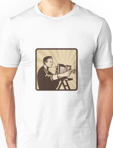 Photographer Shooting Vintage Camera Retro Unisex T-Shirt