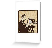Photographer Shooting Vintage Camera Retro Greeting Card