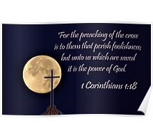 I Corinthians 1:18 - Daily Homework - Day 58 - July 4, 2012 Poster