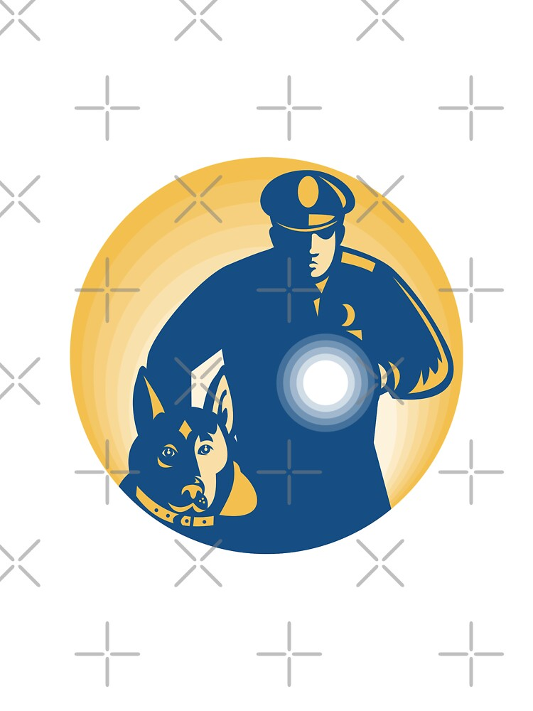 Security Guard Policeman Police Dog by patrimonio