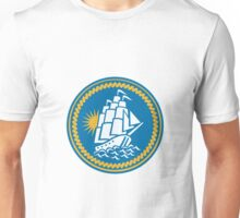 Sailing Tall Ship Galleon Retro Unisex T-Shirt