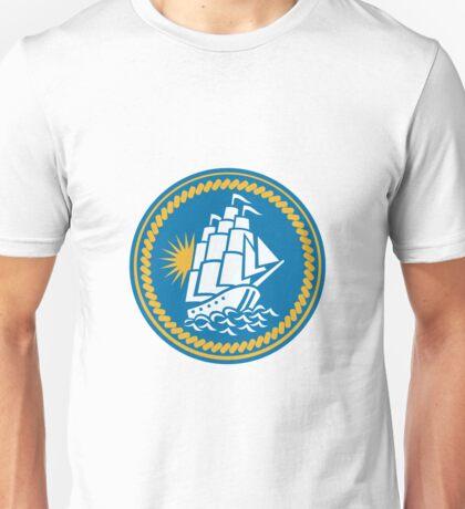 Sailing Tall Ship Galleon Retro Unisex T-Shirt