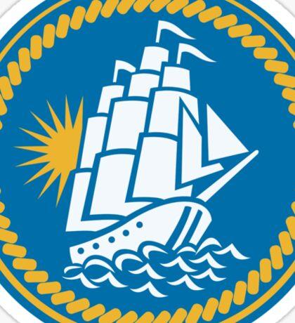 Sailing Tall Ship Galleon Retro Sticker