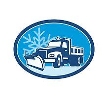 Snow Plow Truck Retro by patrimonio