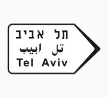 Tel Aviv Road Sign, Israel by worldofsigns