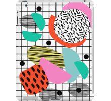 Posse - 1980's style throwback retro neon grid pattern shapes 80's memphis design neon pop art iPad Case/Skin