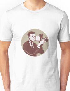 Photographer Shooting Video Camera Retro Unisex T-Shirt