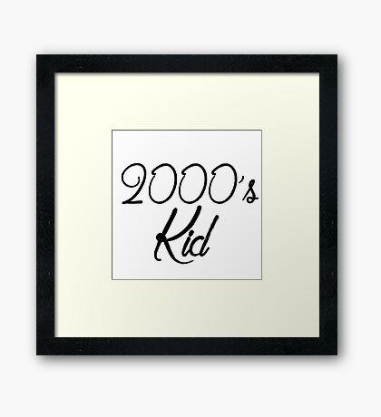 2000's kid Framed Print