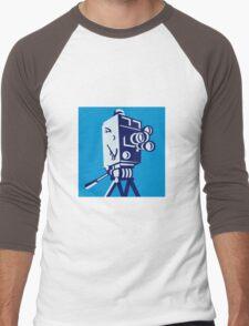 Vintage Film Movie Camera Retro Men's Baseball ¾ T-Shirt