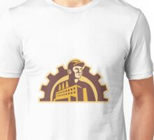 Factory Worker Building Gear Cog Retro Unisex T-Shirt