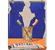 Vintage advertising poster toothpaste iPad Case/Skin