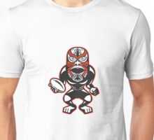 Maori Mask Rugby Player standing With Ball Unisex T-Shirt