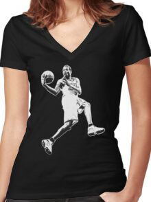 ALLEN IVERSON Women's Fitted V-Neck T-Shirt