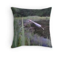 Pond Damsel Throw Pillow