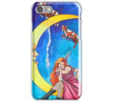 Saloon Girl On The Moon With Moon Cows! iPhone Case/Skin
