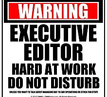 Warning Executive Editor Hard At Work Do Not Disturb by cmmei