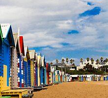 Colours Brighton Beach by Leonie Morris