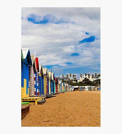 Colours Brighton Beach Photographic Print