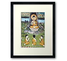 The Peaceful Garden's of Lao Framed Print