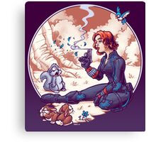 A Not Snow White Widow Canvas Print