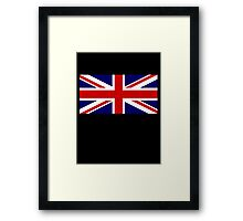 Union Jack, British Flag, UK, United Kingdom, Blighty, Pure & simple 1:2 on BLACK Framed Print