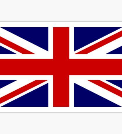 Union Jack, British Flag, UK, United Kingdom, Blighty, Pure & simple 1:2 on BLACK Sticker