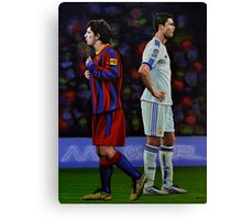 Lionel Messi and Cristiano Ronaldo Canvas Print